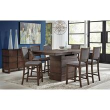 Product Image - Chesney High-Low Convertible Height Storage Table and 6 Stools