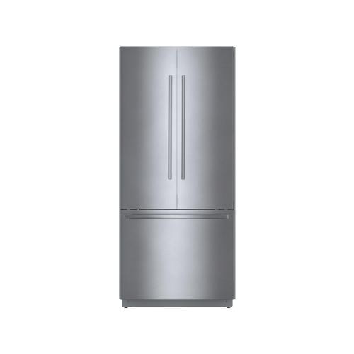 Bosch Canada - Benchmark® Built-in Bottom Freezer Refrigerator 36'' flat hinge B36BT935NS