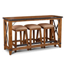 Product Image - Counter Dining Set w/Stools - Rustic Collection (4 Piece)