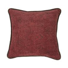 See Details - Wilderness Ridge Red Chenille Throw Pillow, 18x18