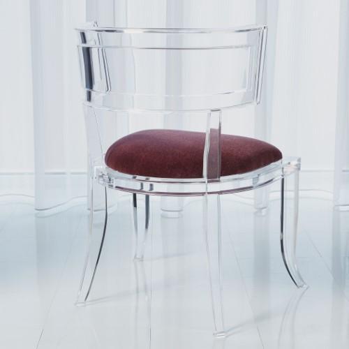Klismos Acrylic Chair-Sultana Lavender