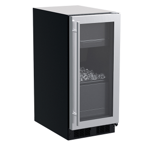 15-In Built-In Clear Ice Machine With Factory-Installed Pump with Door Style - Stainless Steel Frame Glass - STAINLESS STEEL FRAME GLASS