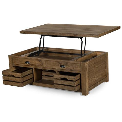 Magnussen Home - Lift Top Storage Cocktail Table (w/Casters)