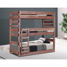 Twin Stackable Triple Bunk Bed w/Queen Rails