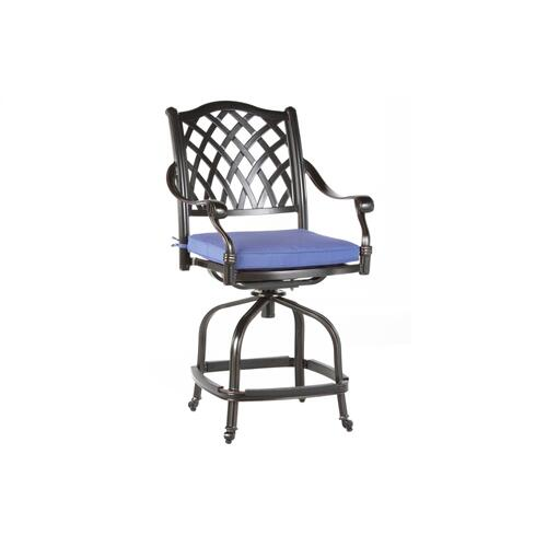Twining Gathering Swivel Arm Chair