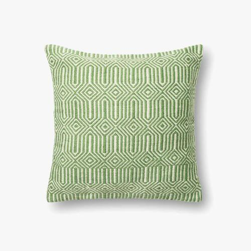 P0339 In/out Green / Ivory Pillow