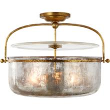 Visual Comfort CHC4270GI-MG E. F. Chapman Lorford 3 Light 20 inch Gilded Iron Semi-Flush Lantern Ceiling Light, Medium
