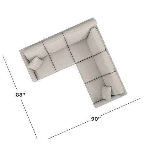 Bassett Furniture - Carolina Thin Track Arm L Sectional