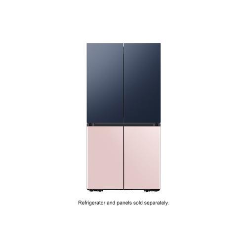 Samsung - BESPOKE 4-Door Flex™ Refrigerator Panel in Navy Steel - Top Panel