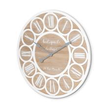 """See Details - Cirque 36"""" Round Oversize Farmhouse Wall Clock"""
