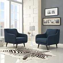 Verve Armchairs Set of 2 in Azure