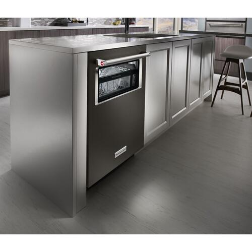 44 dBA Dishwasher with Window and Lighted Interior - Black Stainless Steel with PrintShield™ Finish