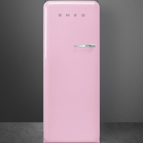 """Approx 24"""" 50'S Style Refrigerator with ice compartment, Pink, Left hand hinge"""