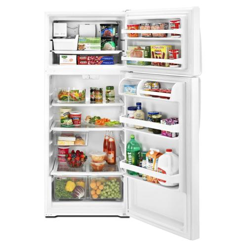 Whirlpool - REFURBISHED 18 cu. ft. Top Mount Refrigerator.  (This is a Stock Photo, actual unit (s) appearance may contain cosmetic blemishes.  Please call store if you would like actual pictures).  This unit carries our 6 month warranty, MANUFACTURER WARRANTY and REBATE NOT VALID with this item. ISI 289