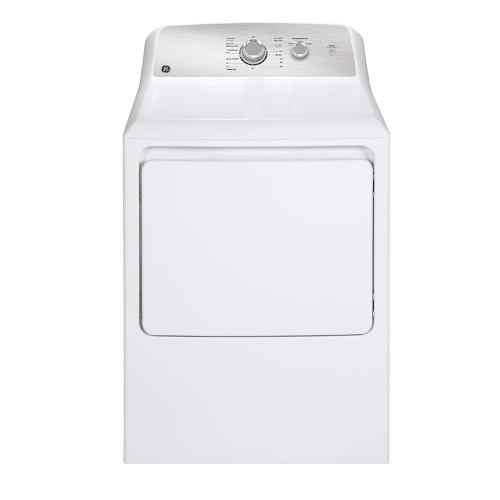 GE Appliances Canada - GE 6.2 cu.ft. Top Load Electric Dryer with SaniFresh Cycle White - GTX33EBMRWS