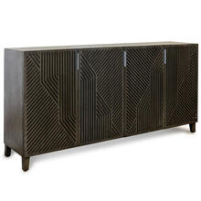 See Details - LAWSON SIDEBOARD  Gray Finish on Hardwood  4 Door