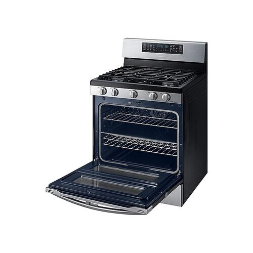 5.8 cu ft. Smart Freestanding Gas Range with Flex Duo™ & Dual Door in Stainless Steel