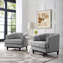 Coast Armchairs Set of 2 in Light Gray