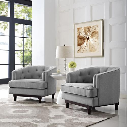 Coast Armchairs Set of 2 in Light Gray