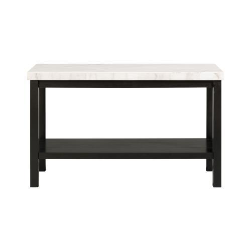 Marcello White Marble Rectangle Sofa Table