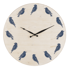 Blue & White Bird Wall Clock