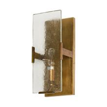 Gruber 4.5x12 Brass Toned Metal w/Frosted Glass Rectangular Wall Sconce