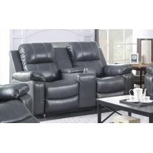 Aamira Recliner Loveseat With Console, Grey