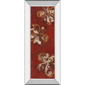 """Flowers Dancing Il"" By Katrina Craven Mirror Framed Print Wall Art"