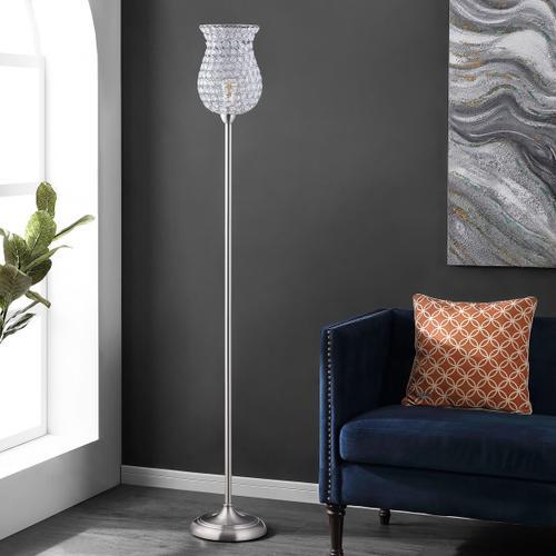 Ricky Iron Floor Lamp - Nickel