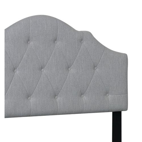 King All-In-One Scalloped Tufted Upholstered Bed in Dupree Mist