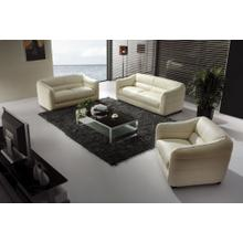Divani Casa 371 Modern Beige Leather Sofa Set