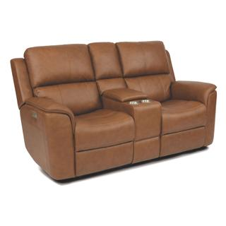 See Details - Henry Power Reclining Loveseat with Console and Power Headrests and Lumbar
