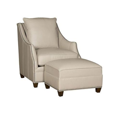 Product Image - Shannon Leather Chair, Shannon Leather Ottoman