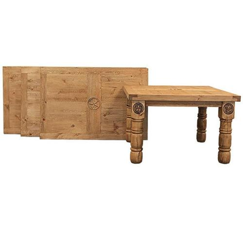 L.M.T. Rustic and Western Imports - 6' Dining Table W/ Star