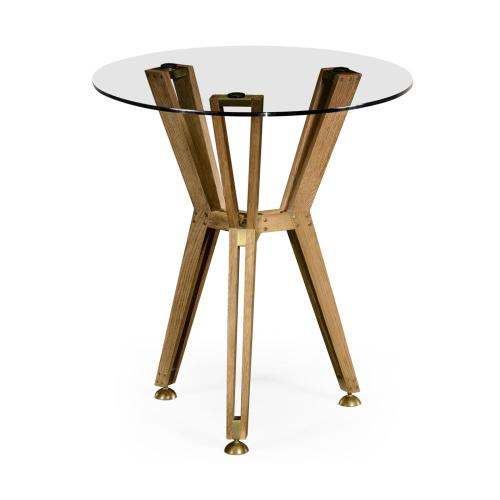 "Architectural 24"" circular side table"