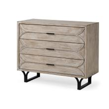 See Details - Giselle I 40L x 16W Light Brown Wood 3 Drawer Accent Cabinet