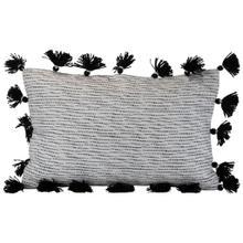 See Details - 14x22 Hand Woven Allison Pillow Black