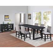 Yves 5-Piece Counter Dining Set (Counter Table & 4 Performance Fabric Counter Chairs)