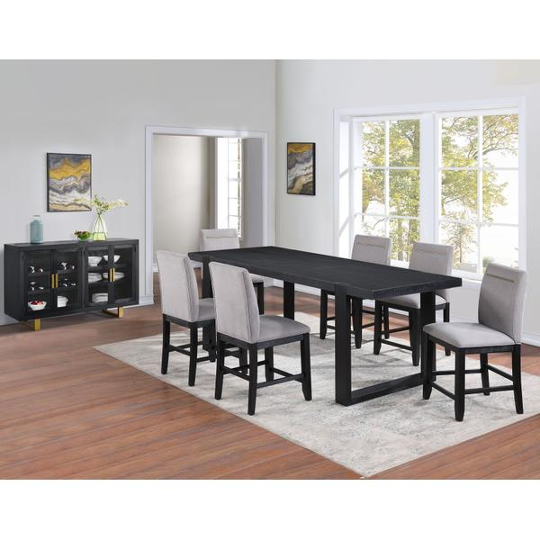 See Details - Yves 5-Piece Counter Dining Set (Counter Table & 4 Performance Fabric Counter Chairs)