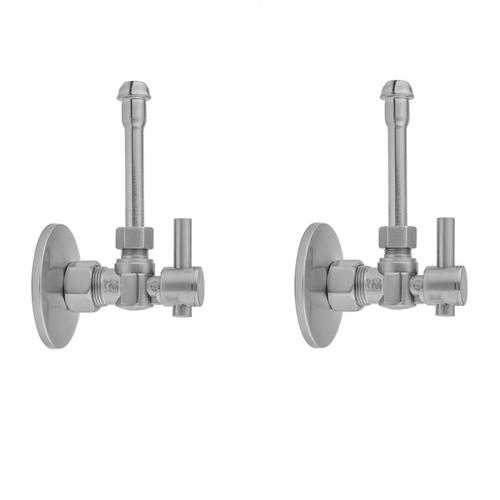 """Jewelers Gold - Quarter Turn Angle Pattern 5/8"""" O.D. Compression (Fits 1/2"""" Copper) x 3/8"""" O.D. Faucet Supply Kit with Contempo Lever Handle, 20"""" Supply Tubes, Escutcheons"""