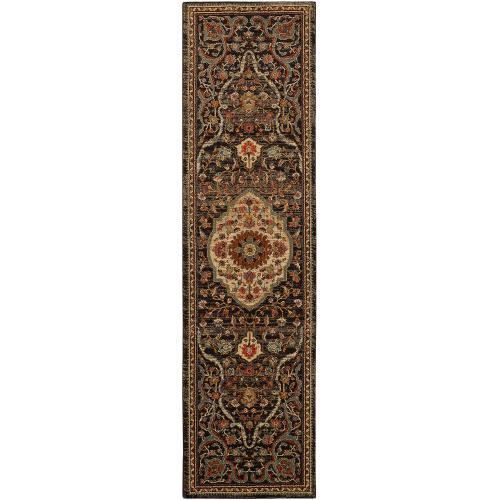 "Karastan - Spice Market Petra Charcoal 3' 5""x5' 5"""