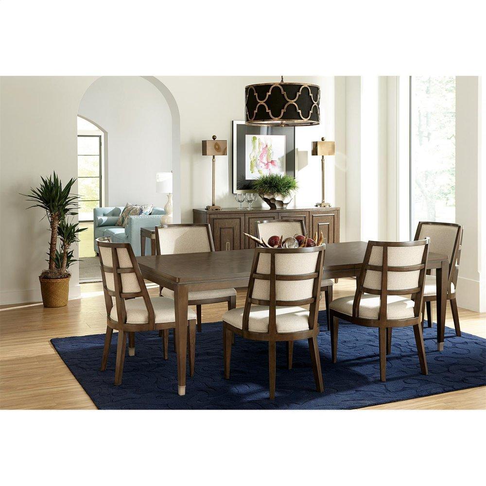 Monterey - Upholstered Hostess Chair - Mink Finish