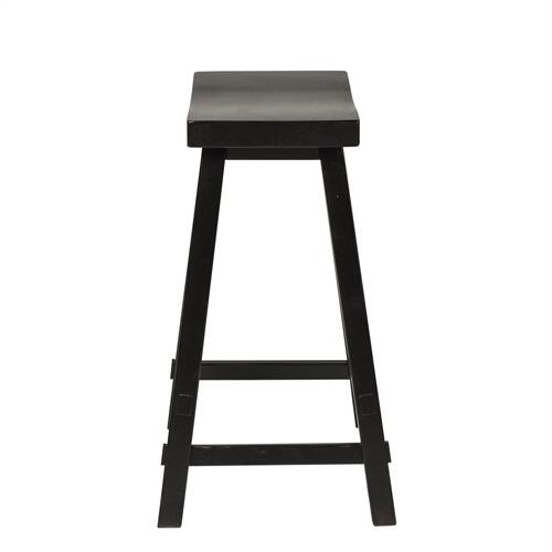 24 Inch Sawhorse Counter Stool - Black (RTA)