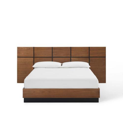 Caima Queen Platform Bed in Walnut