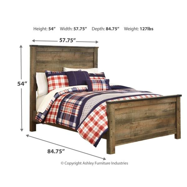 Trinell Full Panel Bed With Mattress