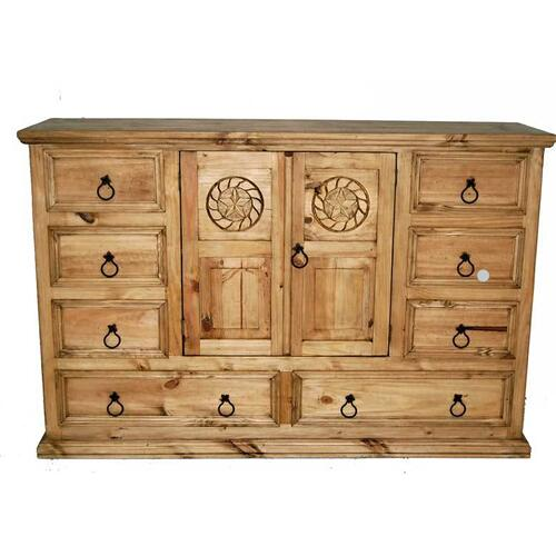Mansion Dresser W/ Rope Star