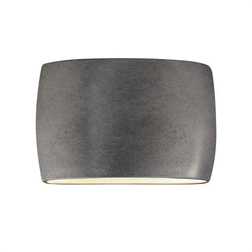 Wide ADA Large Oval Wall Sconce - Closed Top