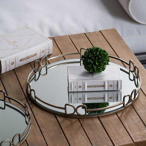 Round Mirror Tray,Medium
