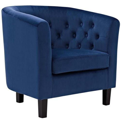 Prospect Performance Velvet Armchair in Navy