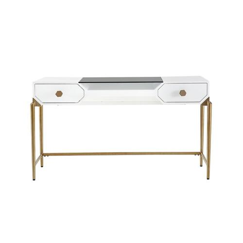 Bajo White Lacquer Desk